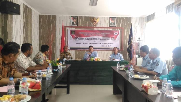 Rapat Pengawasan Notaris Kanwil Kemenkumham Maluku Utara